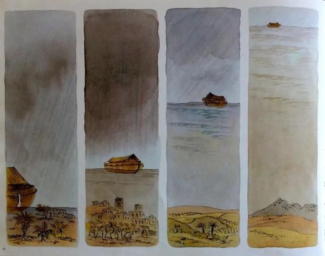 經典無字繪本《諾亞方舟》。讓我們一起來看看方舟的內部構造 - 每日頭條