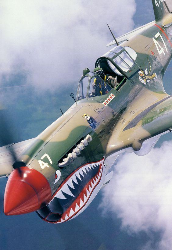 塗上鯊魚圖案有啥了不起。不就是一架戰鬥機嗎 - 每日頭條