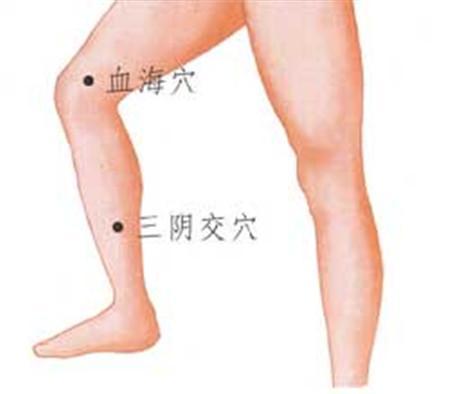 穴位養生:長期按摩血海穴。可以起到活血化瘀補血養腎的功效 - 每日頭條