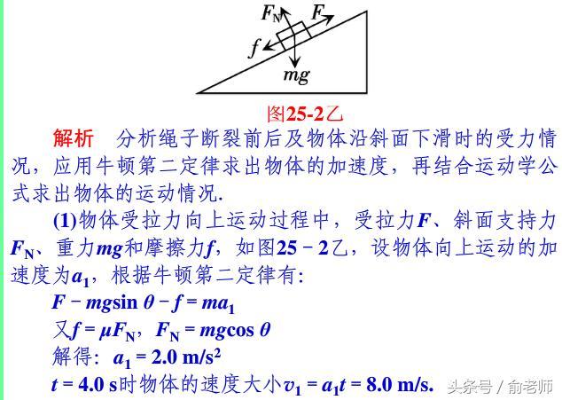 高中物理必修一用牛頓運動定律解決問題一 - 每日頭條