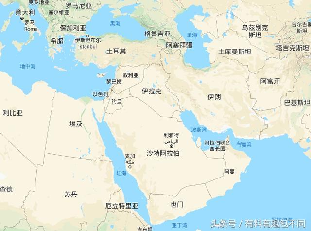 中東國家知多少?排名一看沙特最大巴林最小 - 每日頭條