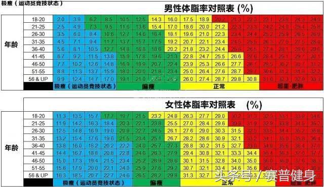 測測你的體脂率!附男女標準體脂率對照表~ - 每日頭條