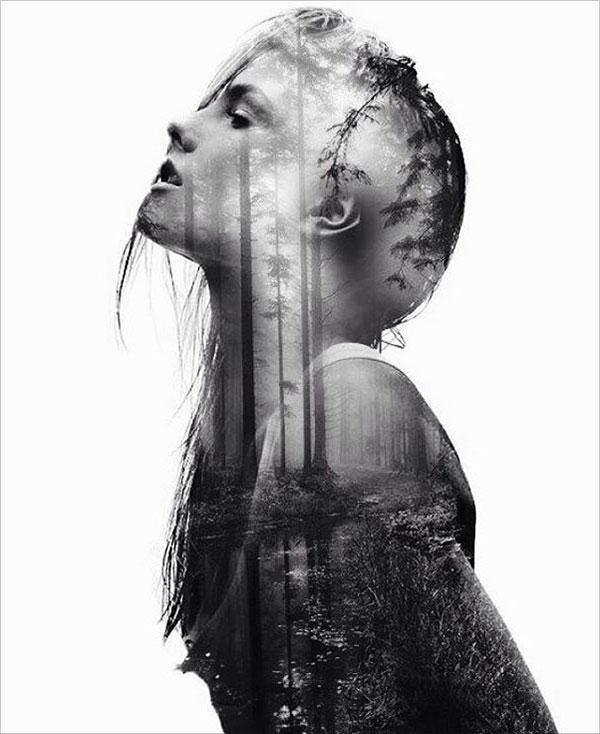 視覺藝術:法國攝影師雙重曝光人物與自然的攝影作品 - 每日頭條
