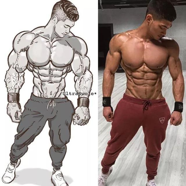 肌肉漫畫是什麼鬼!真人還是漫畫。難辨真假 - 每日頭條