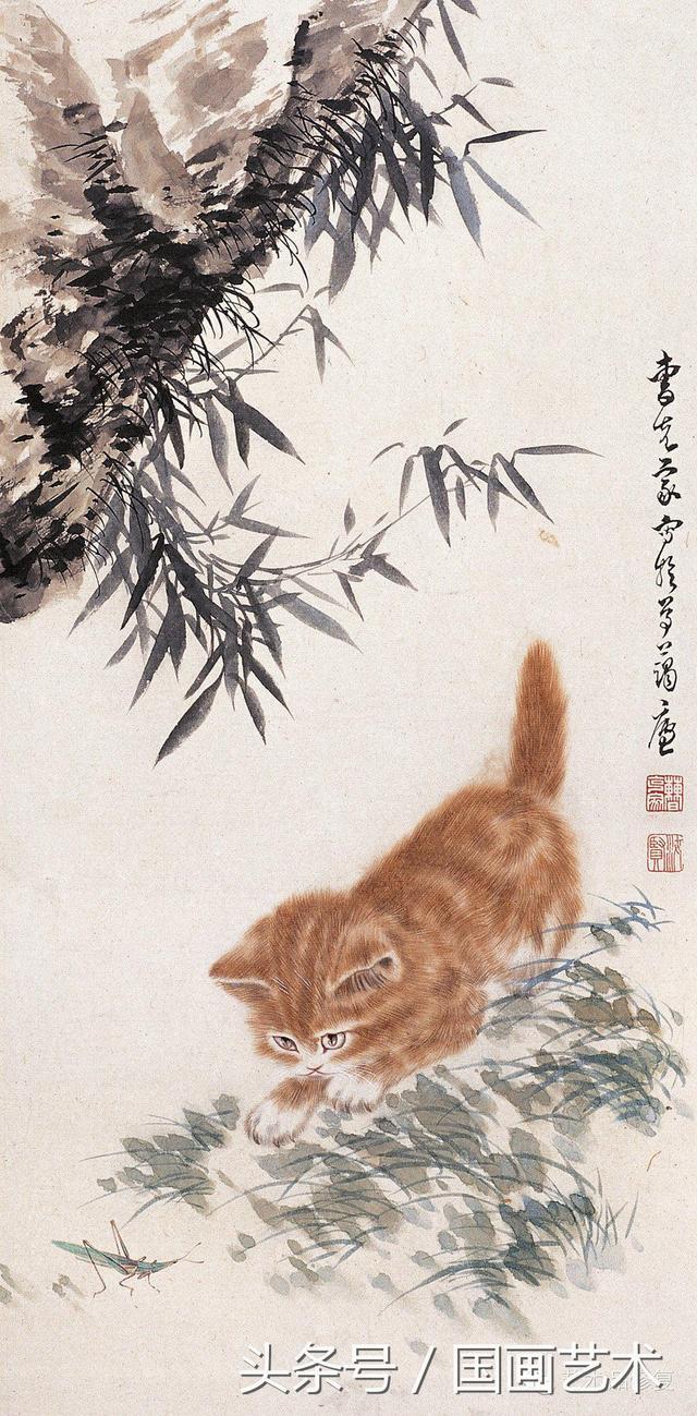 曹克家尤擅畫貓,栩栩如生,神態逼真。 - 每日頭條