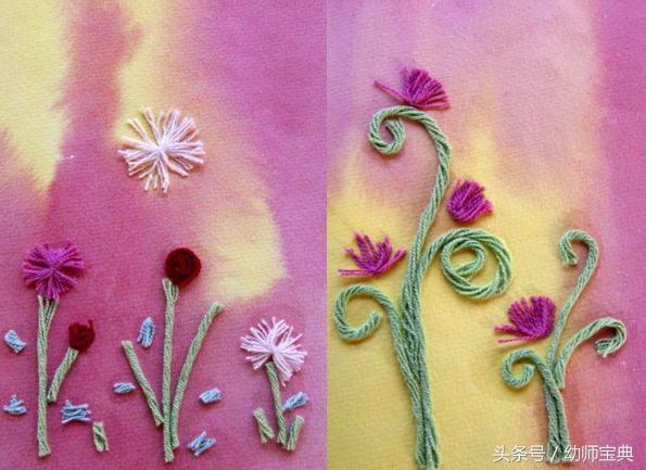 幼兒園手工|孩子也能做的手工花朵(二) - 每日頭條