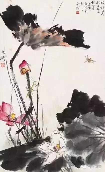 著名花鳥畫大師王雪濤寫意荷花作品選 - 每日頭條