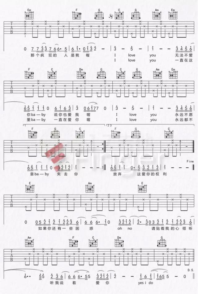 附譜|《愛很簡單》吉他彈唱教學(附譜和詳細教學) - 每日頭條