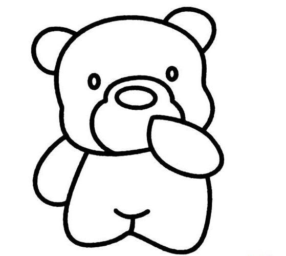 小熊簡筆畫,簡簡單單可愛又大方,讓我們一起來畫畫 - 每日頭條