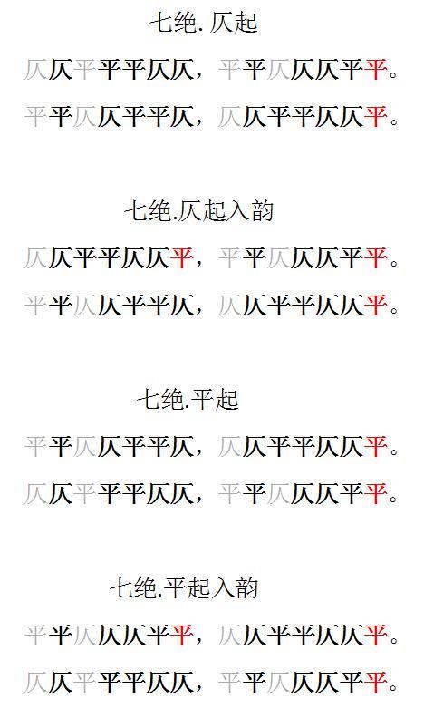 格律詩平仄(五絕,五律,七絕,七律) - 每日頭條