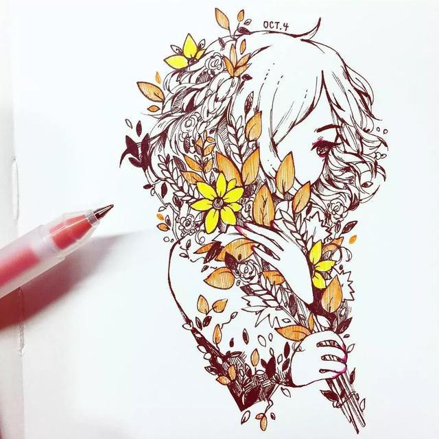 這畫家不用畫筆。僅用一捲紙膠帶爆紅ins。千萬粉絲紛紛被她淪陷~ - 每日頭條