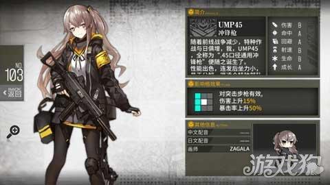 少女前線四星槍娘推薦 UMP45值不值得培養 - 每日頭條