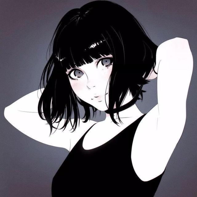 二次元動漫小姐姐插畫,萌萌的大眼睛美麗可愛又靈動! - 每日頭條