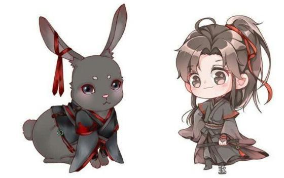 《魔道祖師》兔子翻版:汪嘰兔很有藍家風範,羨羨兔一秒變非洲圖 - 每日頭條