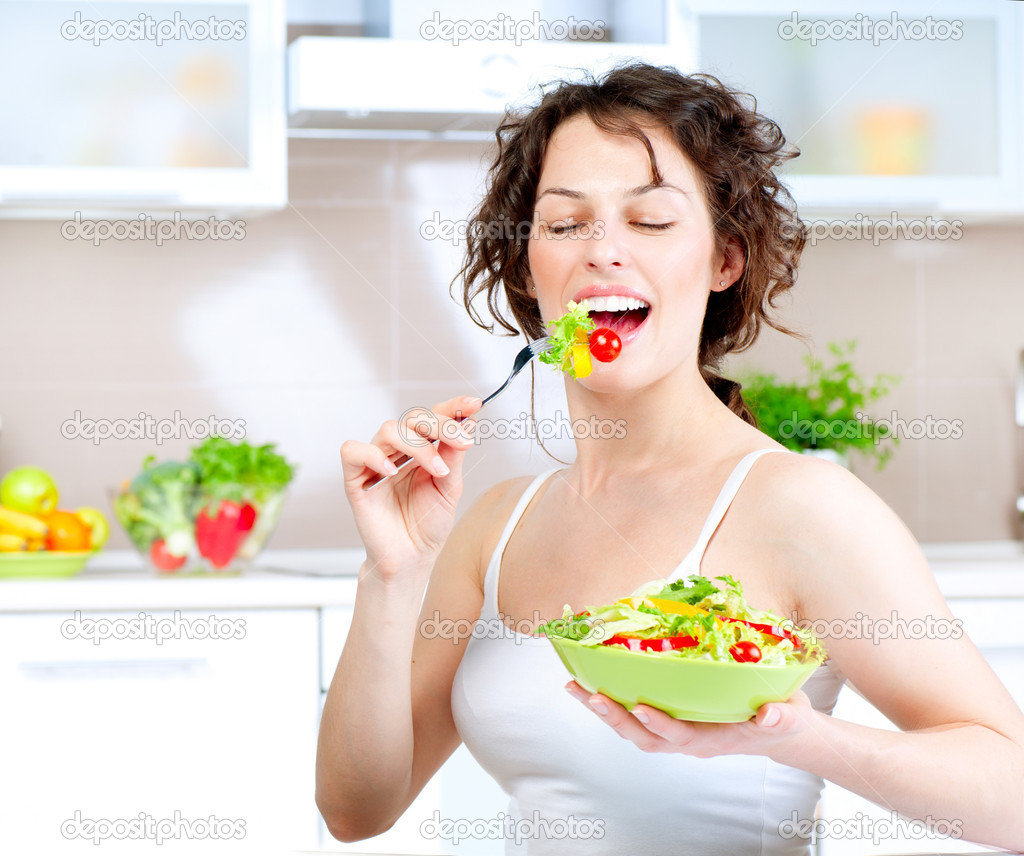 Women Laughing Alone With Salad Know Your Meme