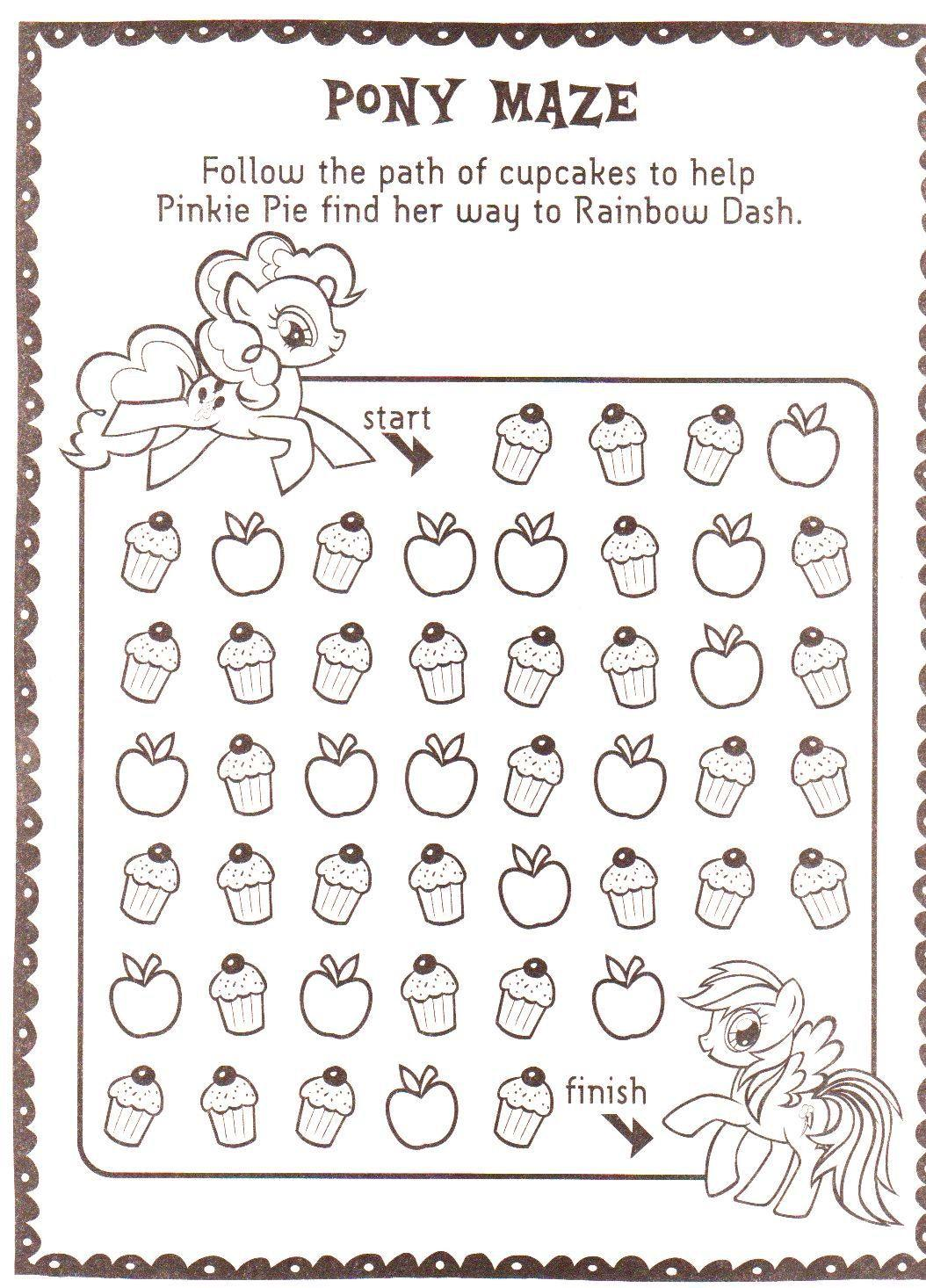 Pinkie Pie And Rainbow Dash Cupcake Maze My Little Pony