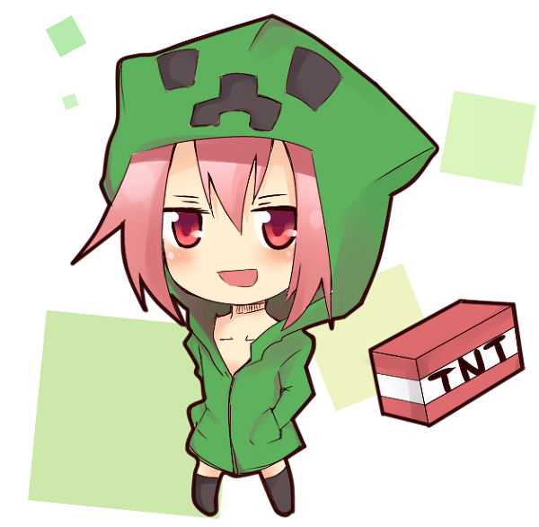 Minecraft Chibi Wolf Girl