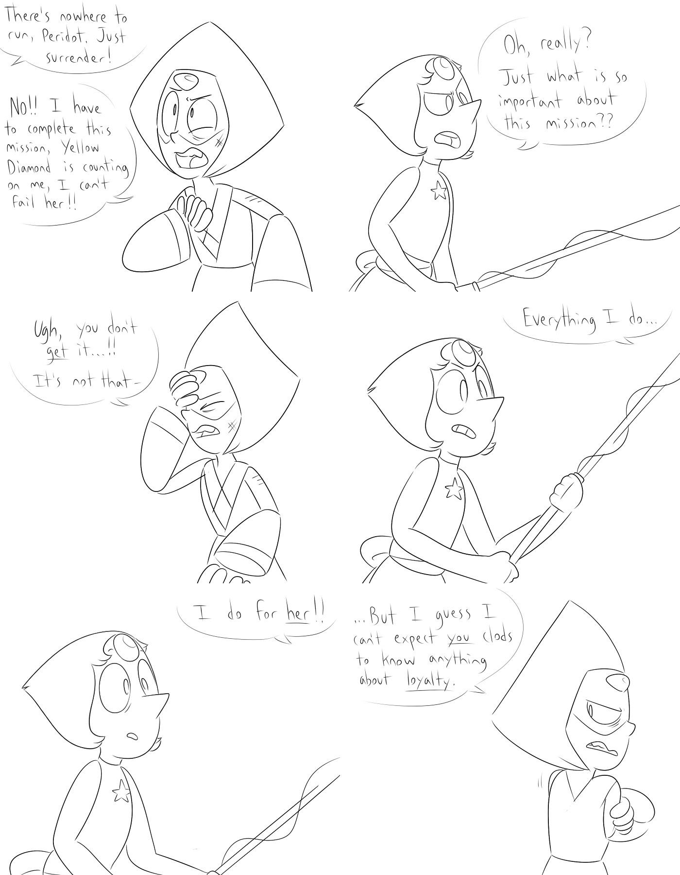 what if pearl/rose and peridot/yd parallels amirite