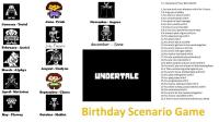 Undertale Birthday Scenario Game