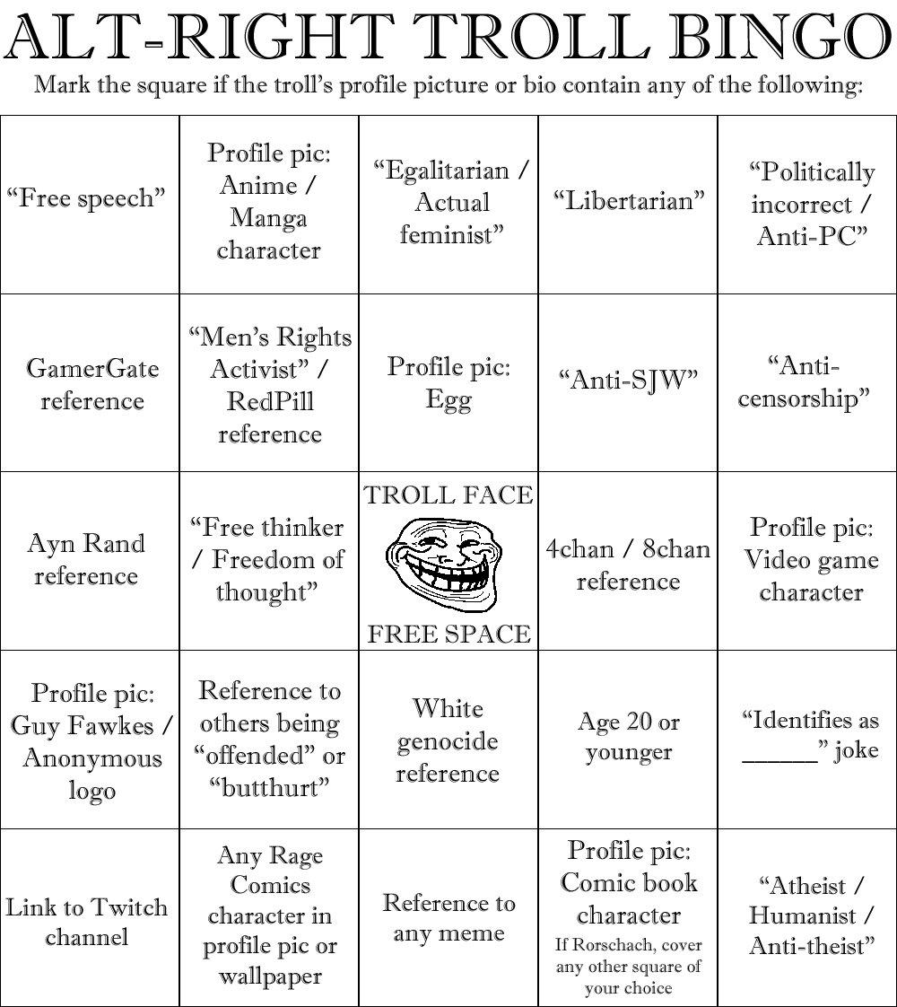 Bingo  Altright  Know Your Meme