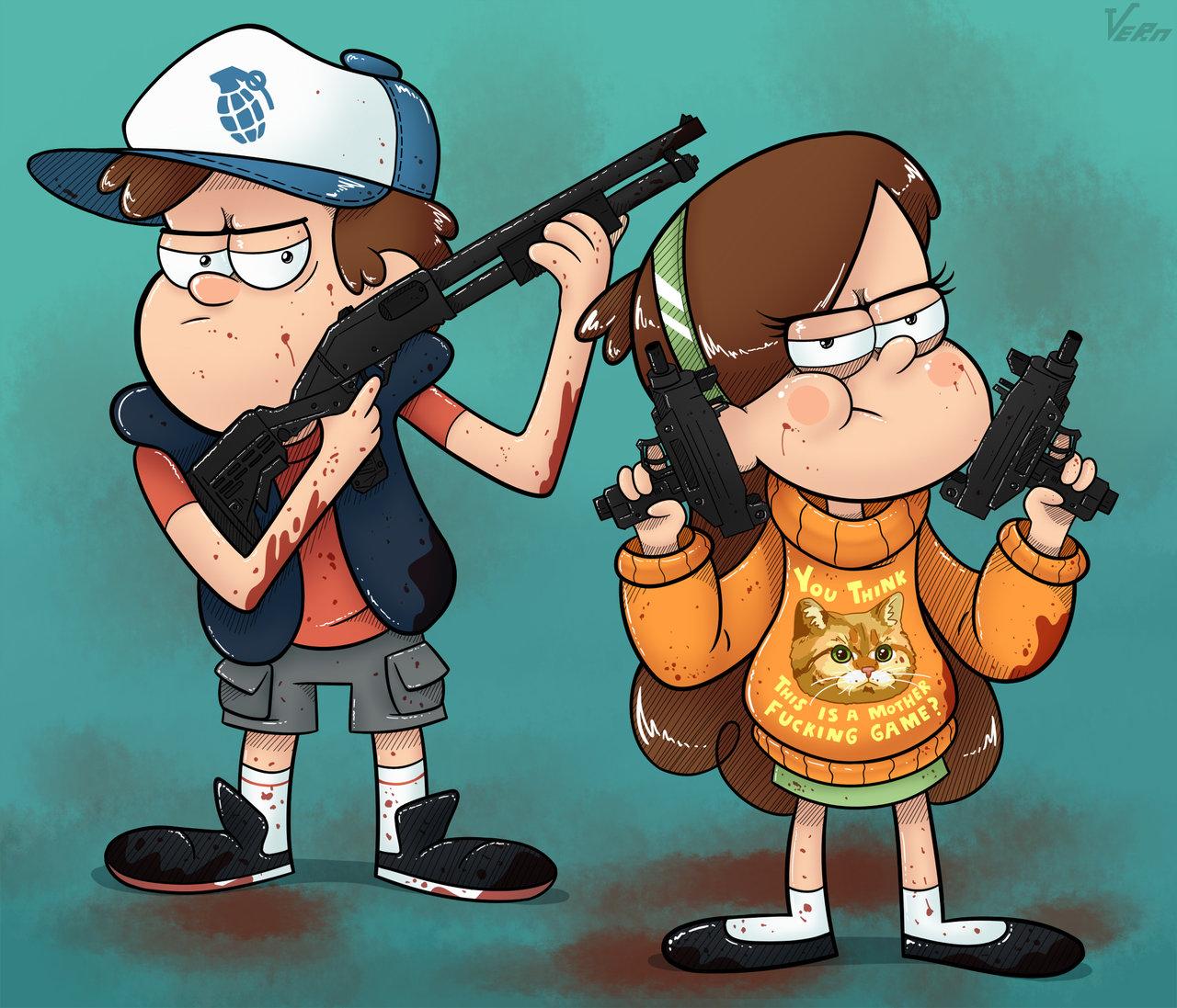 Gravity Falls Dipper And His Crush Wallpaper Badass Gravity Falls Know Your Meme
