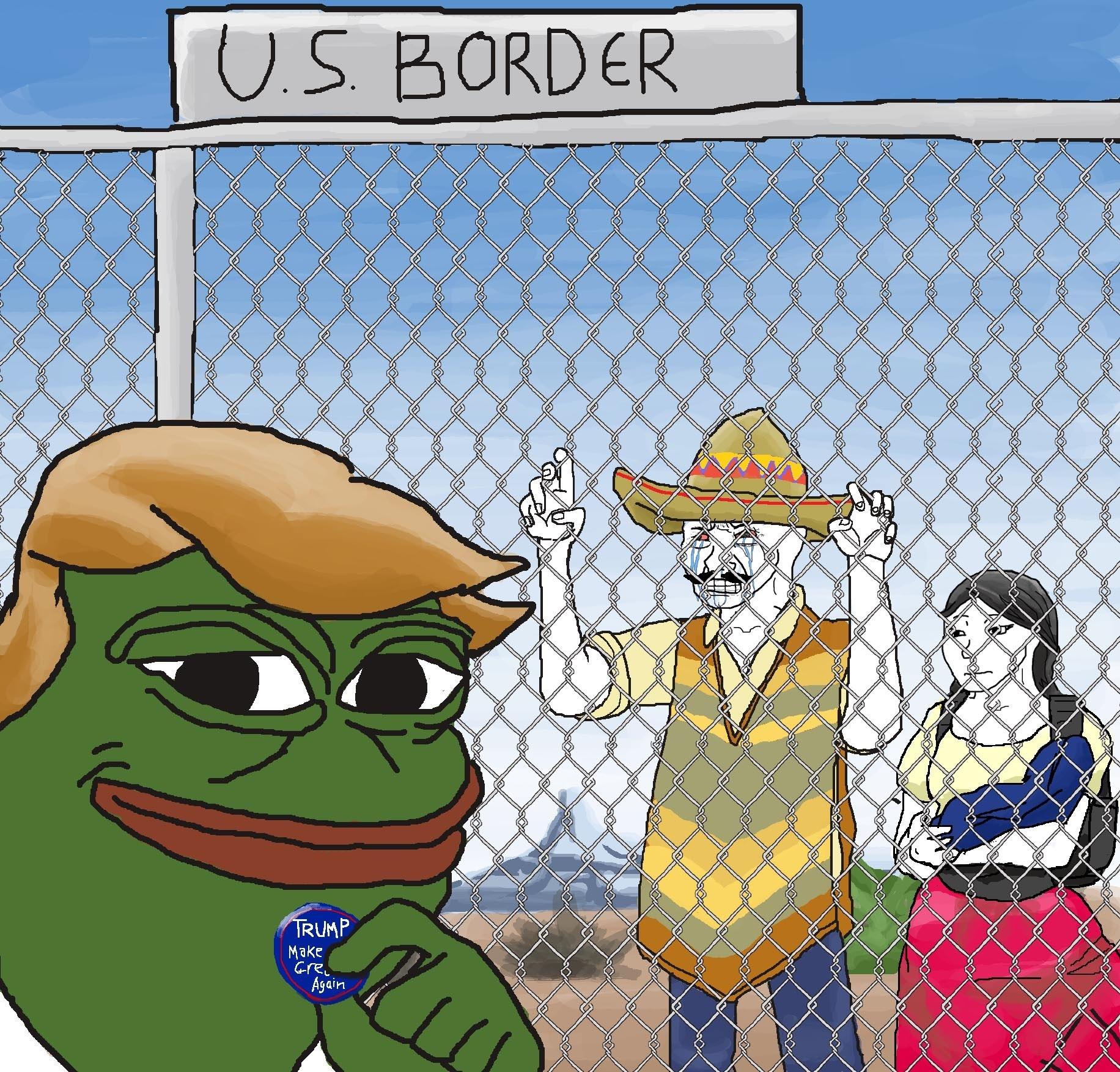 Build the Wall Pepe Trump