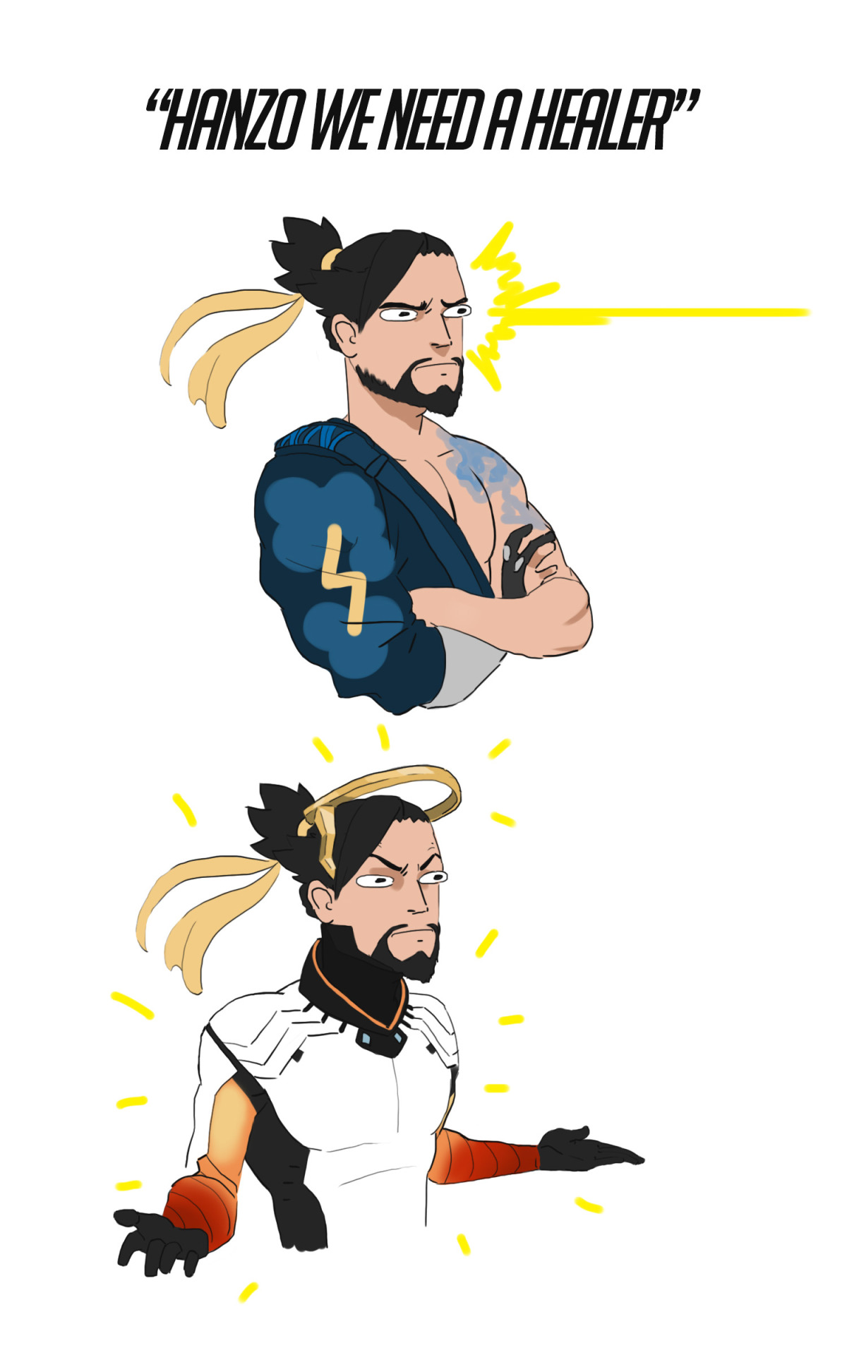 Hanzo The Healer Overwatch Know Your Meme
