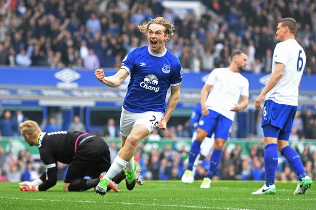 Image result for tom davies goal vs leicester