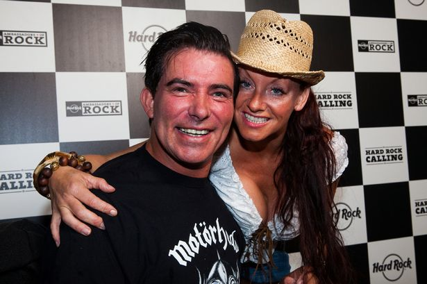 Happier times: Eddie Kidd with Samantha in 2009