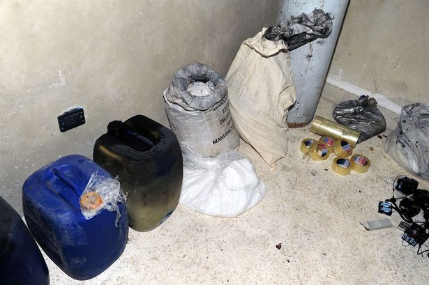 Materials the Syrian government claim rebels used to make chemical weapons