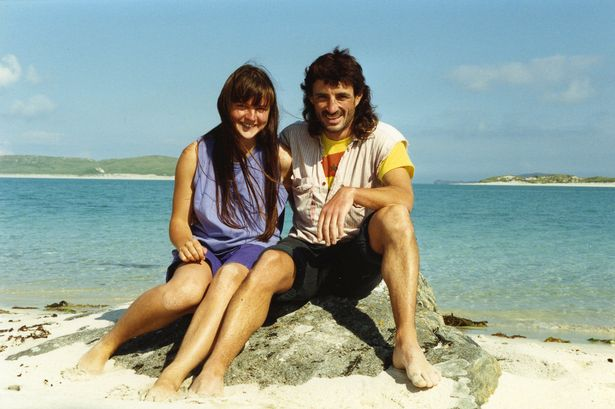 'Police spy' John Barker/ Dines and activist Helen Steel during their 'relationship' in 1990