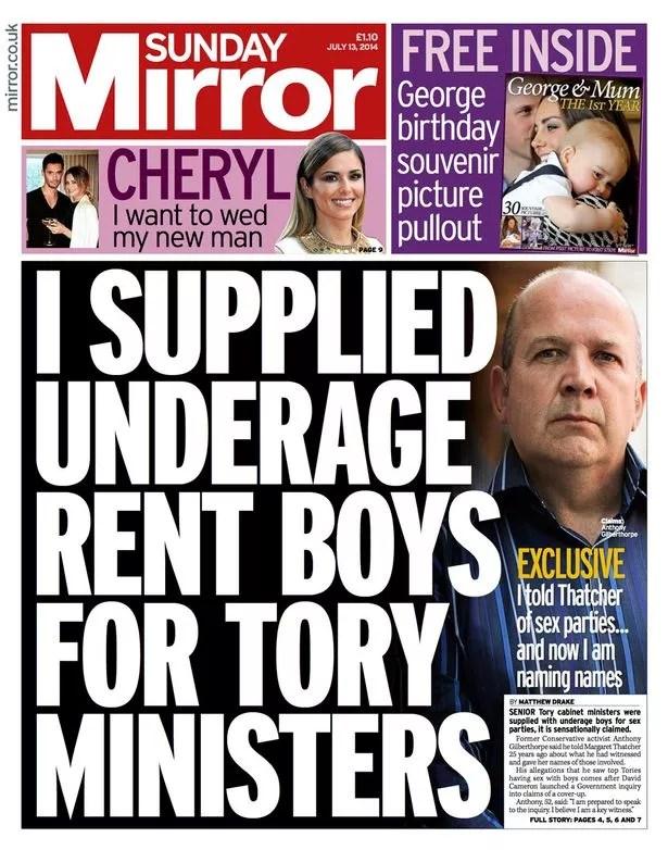 Sunday Mirror 13 July 2014