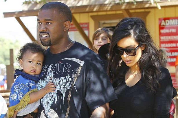 Kanye West, Kim Kardashian and North West
