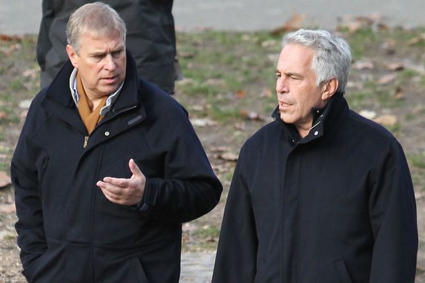 Prince Andrew and Jeffrey Epstein in Central Park