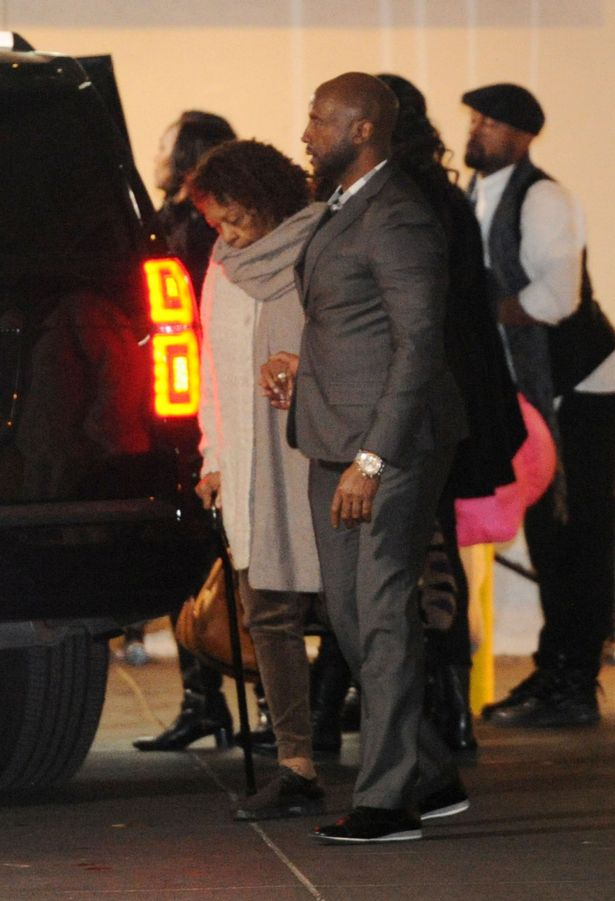 Cissy Houston and Family seen leaving Emory University