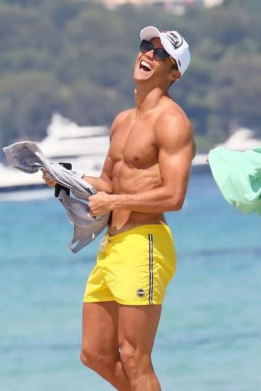 Cristiano Ronaldo on holiday Saint Tropez