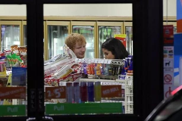 Ed Sheeran and Selena Gomez
