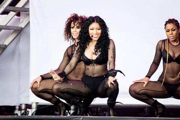 Nicki Minaj performs at Roskilde Festival, Denmark