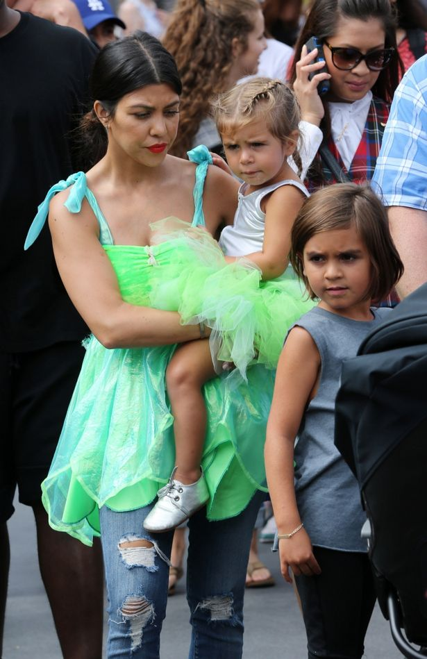 Kourtney Kardashian takes Penelope to Disneyland