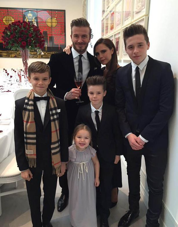 "Victoria Beckham writes ""Happy anniversary, I love u so much x I'm so proud of our beautiful family x"