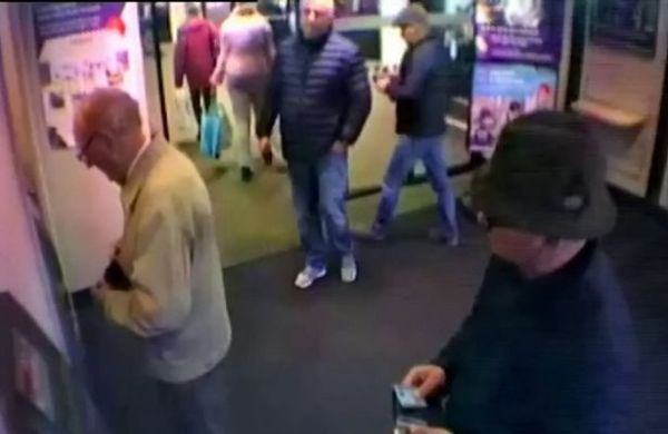 This is the shocking moment three callous thieves are caught on CCTV stealing over £20,000 - from a 93-YEAR-OLD