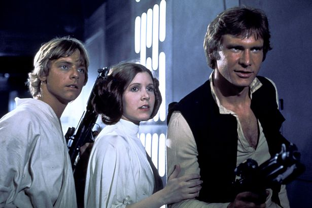 Image result for Harrison Ford and Carrie Fisher in Star Wars