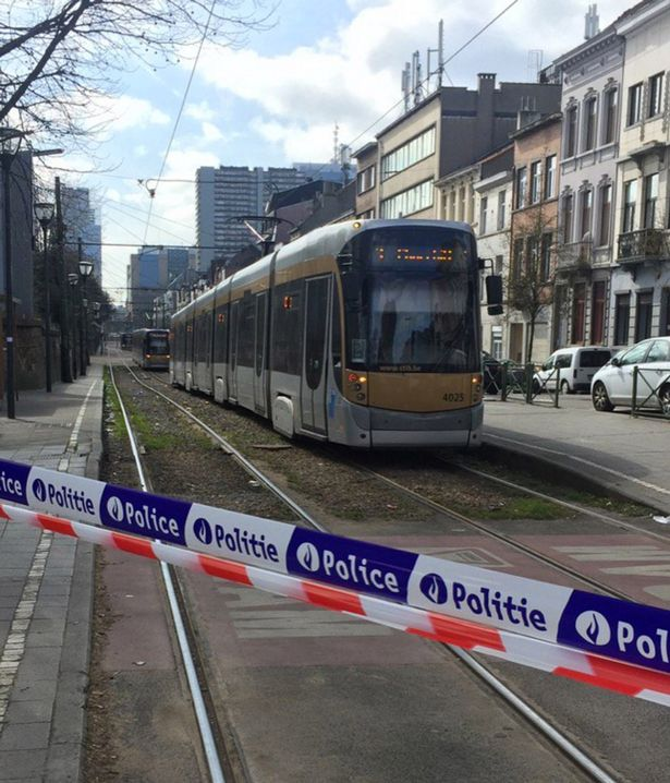 Three trams stopped. Bomb disposal team going in.