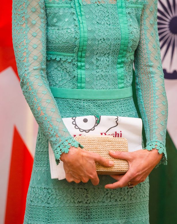 Kate accessorised her Temperley dress with her LK Bennett Natalie clutch