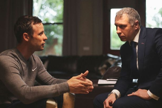 Oscar Pistorius speaks to investigative journalist Mark Williams-Thomas