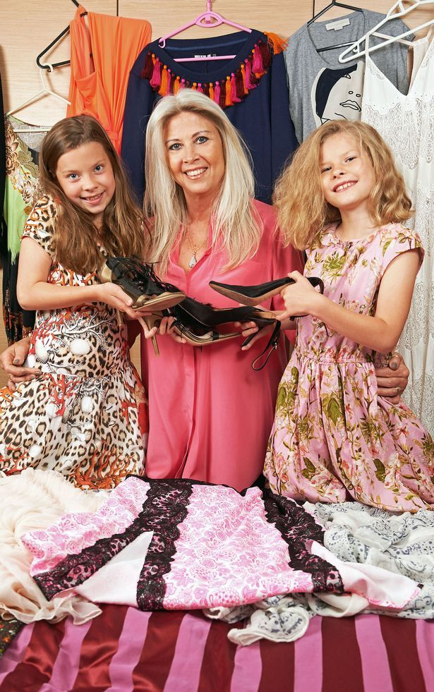 Glamorous grandmother Jayne Clark with her 9 year old twins Maggie and Norah
