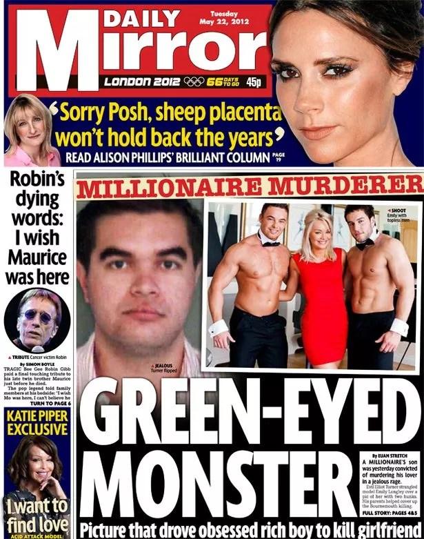Elliot Turner guilty Spoilt coke addict terrorised women with jealous rages then let mummy