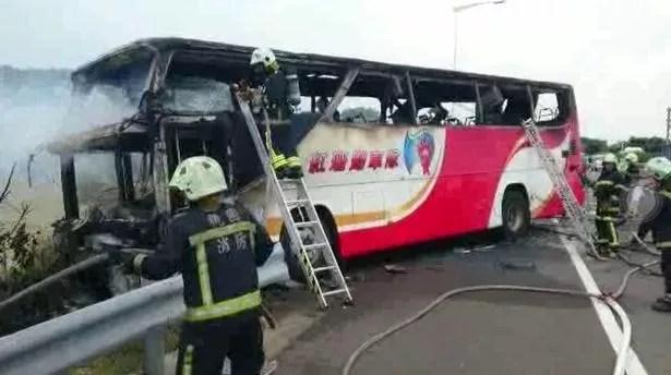 Taiwan bus fire