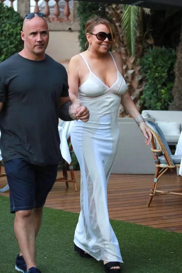 Mariah Carey enjoys a garden lunch in Saint Tropez, France
