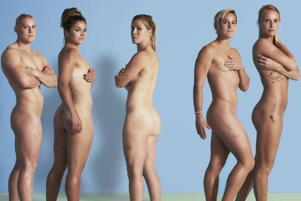 Team GB's Heather Fisher, Amy Wilson-Hardy, Michaela Staniford, Danielle Waterman and Claire Allan bare all